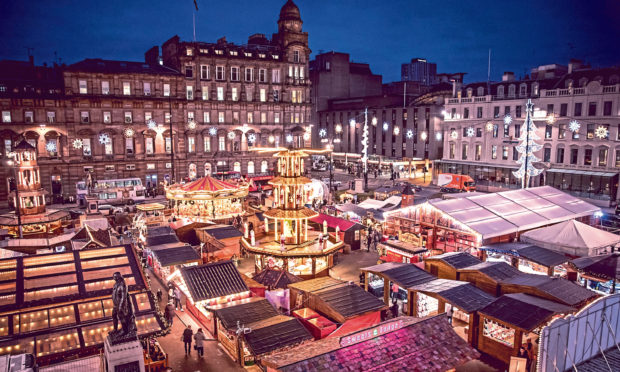 Glasgow Christmas Market, George Square.