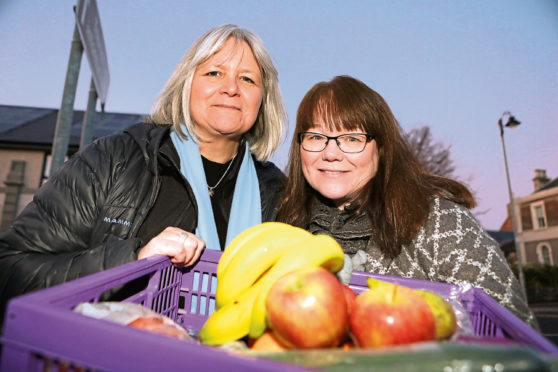 Pauline Lockhart and Carol Malone, who are hoping to open a social supermarket in Forfar.