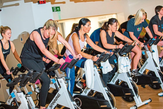 Gayle joins a spin class at Crieff Hydro and checks out the new gym facilities.