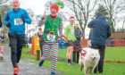 David Brown taking part in the Plum Pudding Plod.