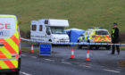 Police at the scene of A85 sudden death