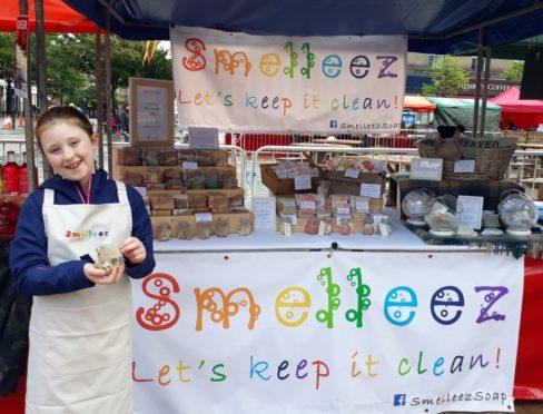 Amelia Milton sells her soaps at markets across Scotland.