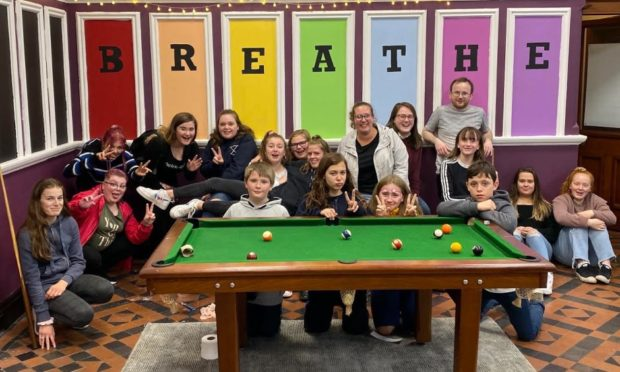 Youngsters have been using the Breathe Centre in Aberfeldy for a month now.