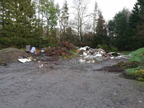 Fly-tippers have targeted Caird Park.
