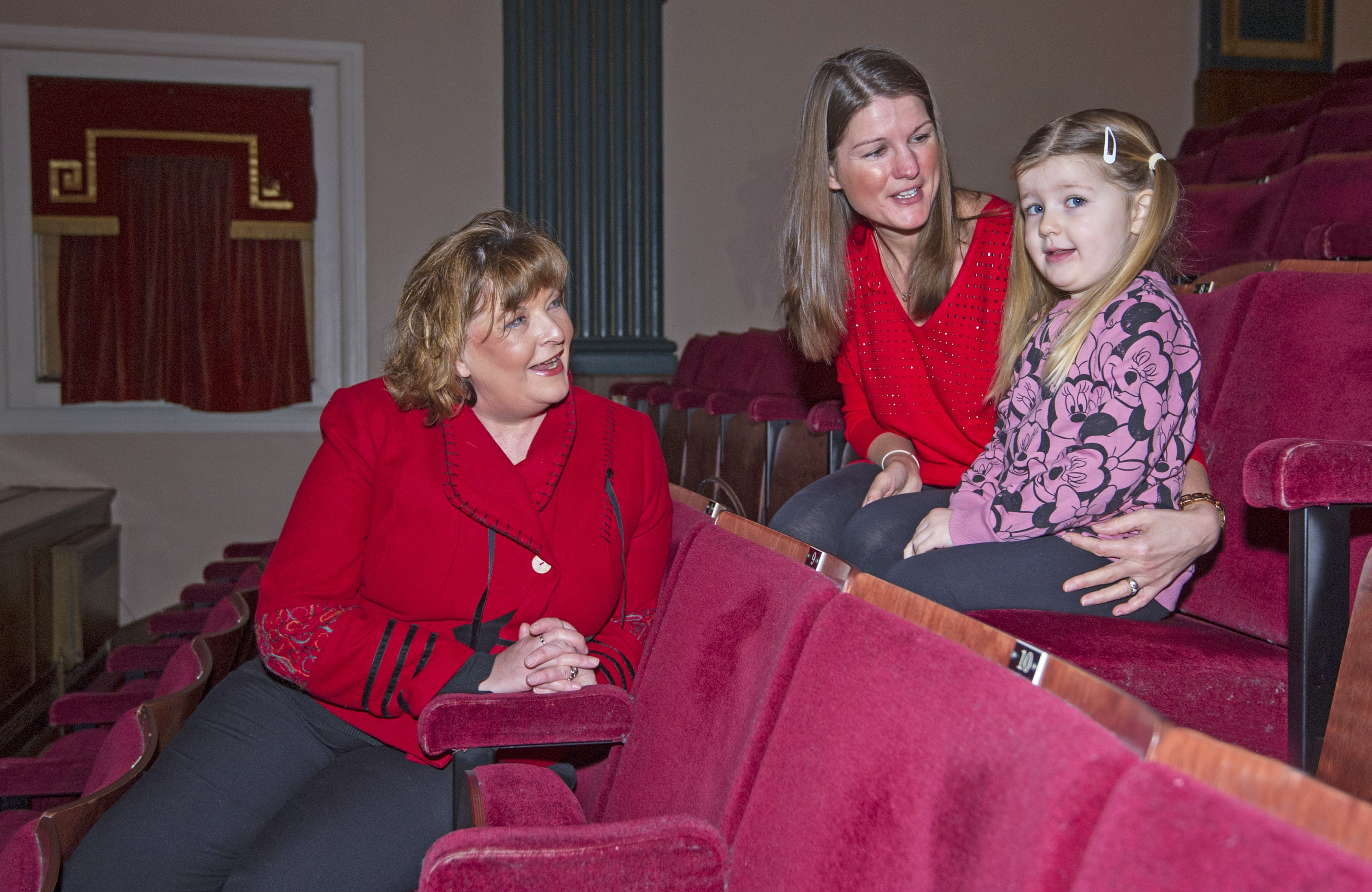 Fiona Hyslop with mum Clare Smart and daughter Megan.