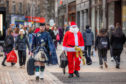Dundee City Centre was inundated with Christmas shoppers at the weekend.