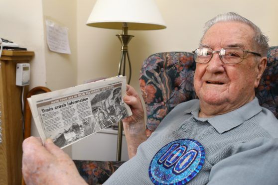 George McRitchie on his 100th birthday.