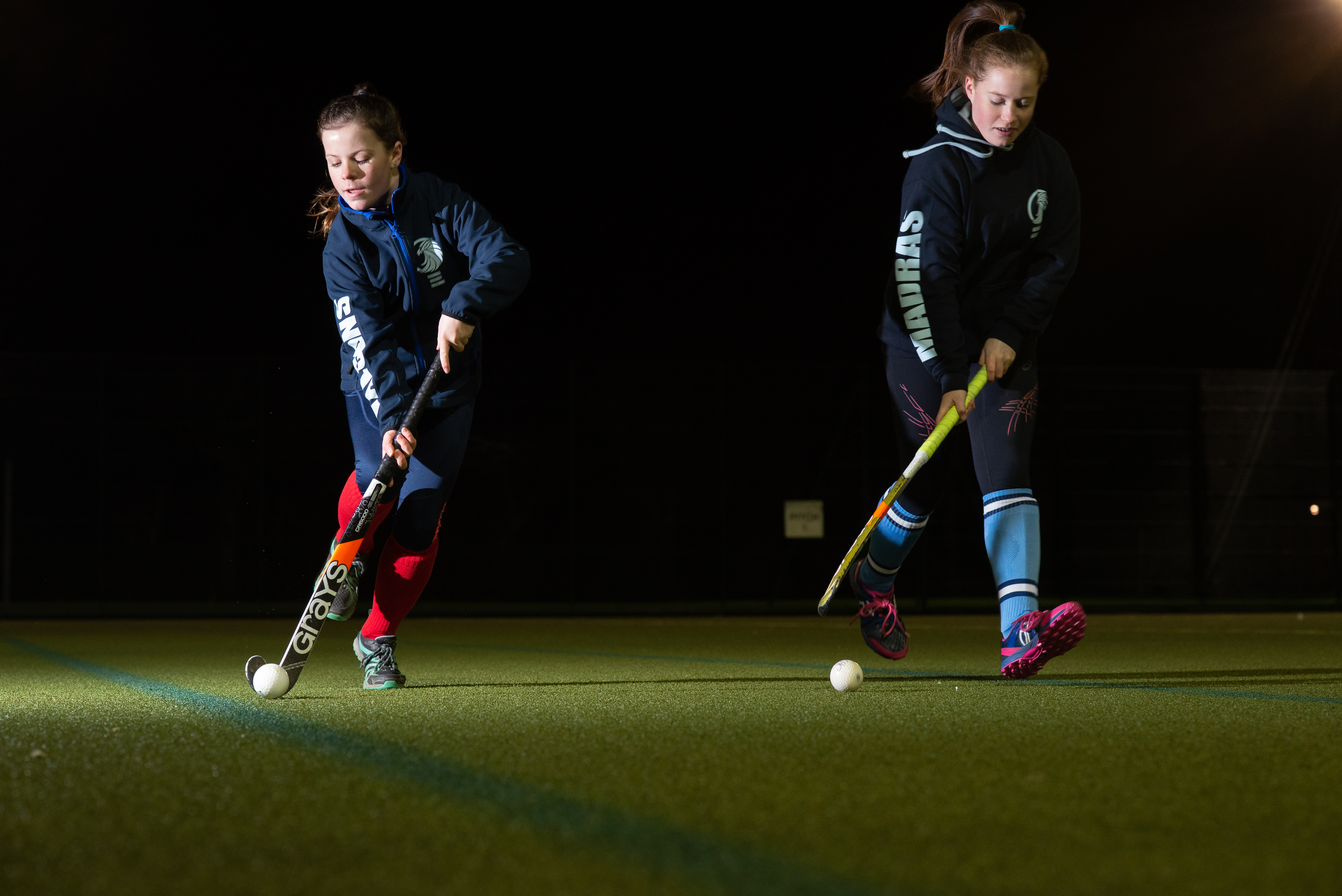 Abbey and Tara (left) Wallace, Madras College pupils, are among the many hockey players who want another 2G pitch in St Andrews.
