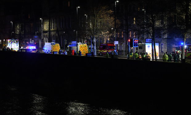 Emergency services special operations teams flocked to Tay Street tonight.