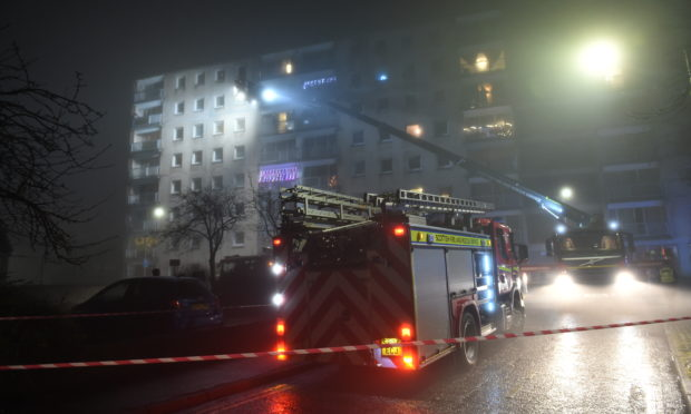 Flats in Pomarium Street were evacuated as firefighters tackled the blaze.