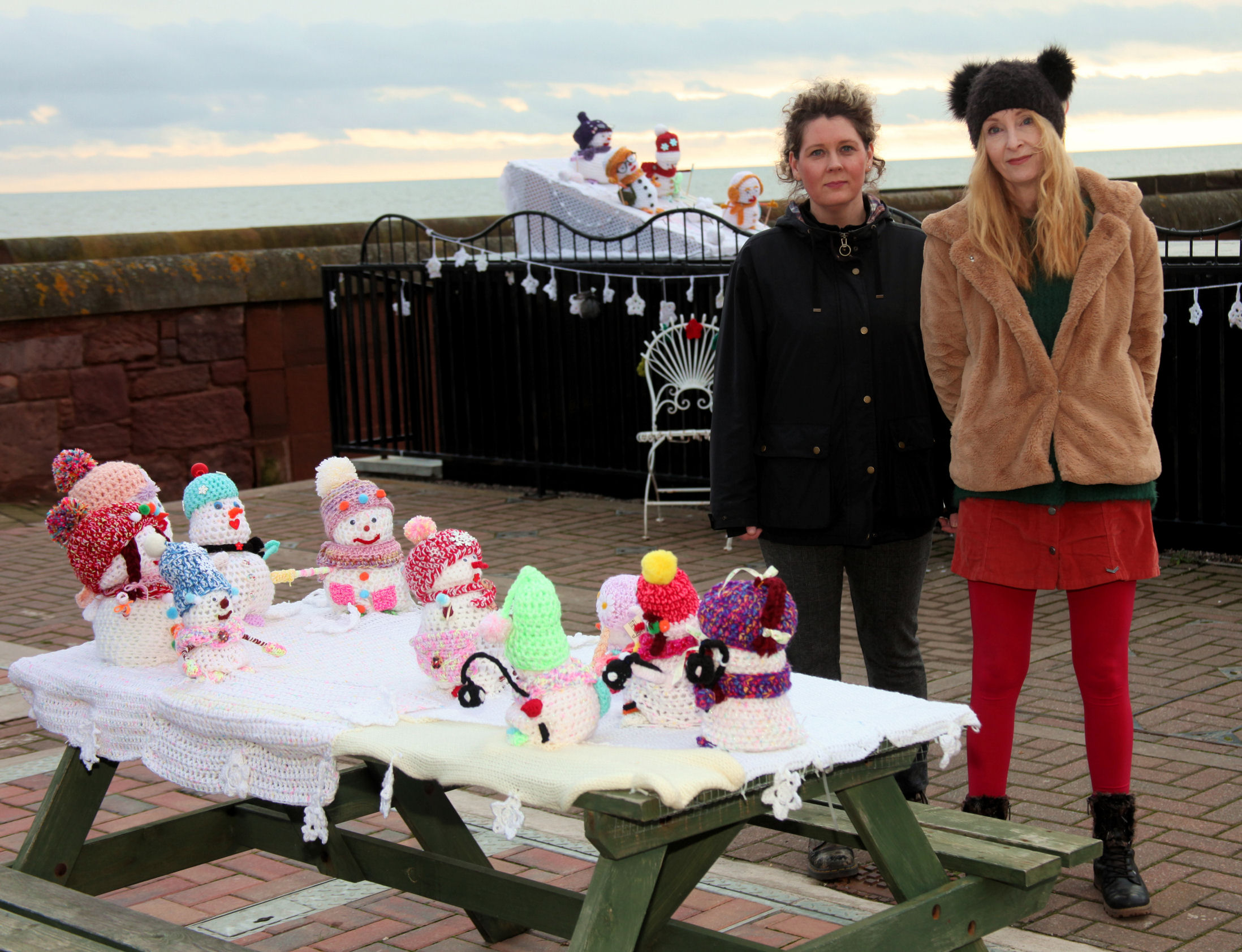 Arbroath councillor Lois Speed and Woolly Workers artists Jill Henderson have been dismayed by the Arbroath theft.