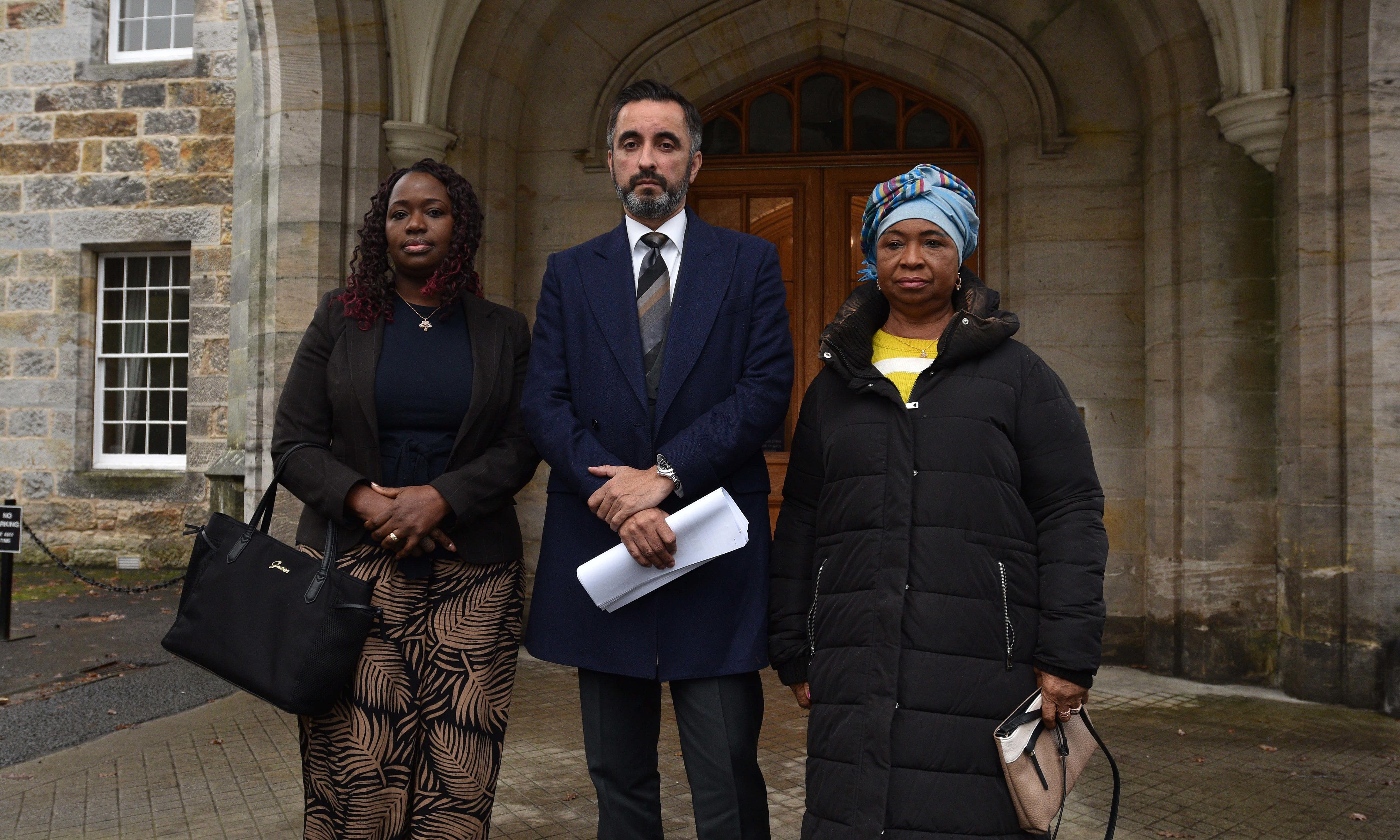 Mr Amwar with Kadi Johnston, left, and Aminata Bayoh.