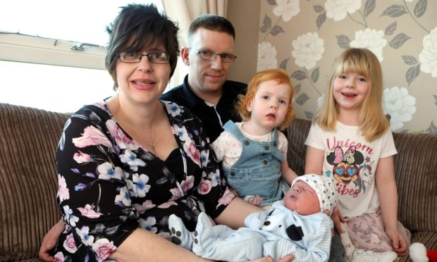 Louise Fairweather (36) & Kevin Clark (34) from St Cyrus welcomed baby Jacob at 1.13am on Christmas Day.