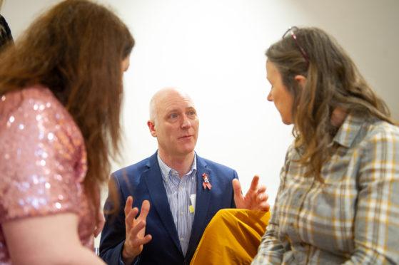 Joe Fitzpatrick meets brain injury survivors.