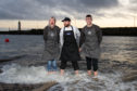 Jacklyn Smith (Wee Chippy), Tommy Izatt (Waterfront Chip Shop) and Kyle Fleming (Wee Chippy) prepare for the Dook