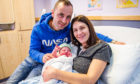 Zibi and Marzena Wasik with baby Aleksander, at Perth Royal Infirmary.