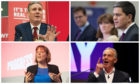 Keir Starmer collage David Miliband Jess Phillips and Tony Blair (clockwise, top left to bottom right).