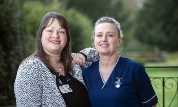 Queen's nurses Jennifer Grant (left) and Mary Kinninmonth.