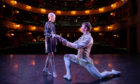 Lily Douglas with Scottish Ballet Principal dancer Christopher Harrison at Theatre Royal Glasgow.