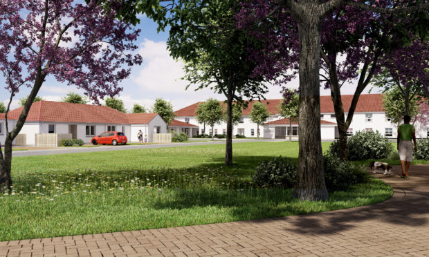 An artists impression of how the site will look.