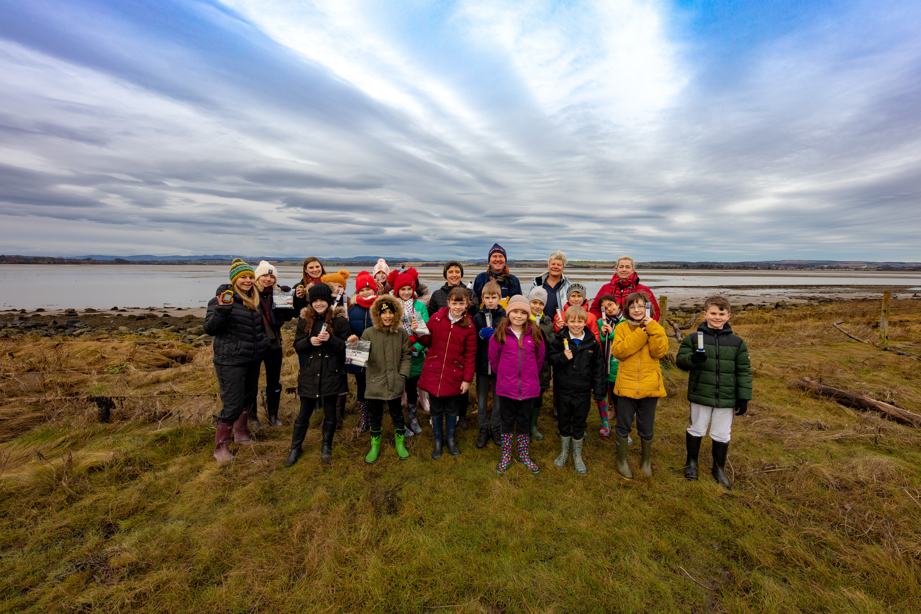 Project figures and St Margaret's Primary pupils at Montrose basis.