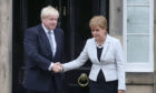 Boris Johnson and Nicola Sturgeon.