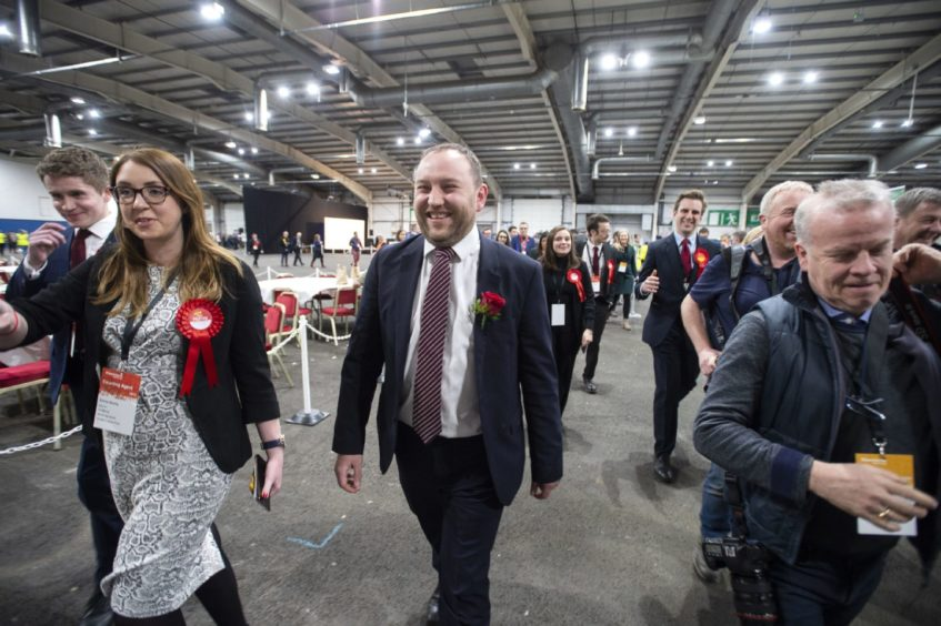 Ian Murray arrives at the general election count at the Royal Highland Centre, Edinburgh, in December where he retained his seat as Labour MP for Edinburgh South.