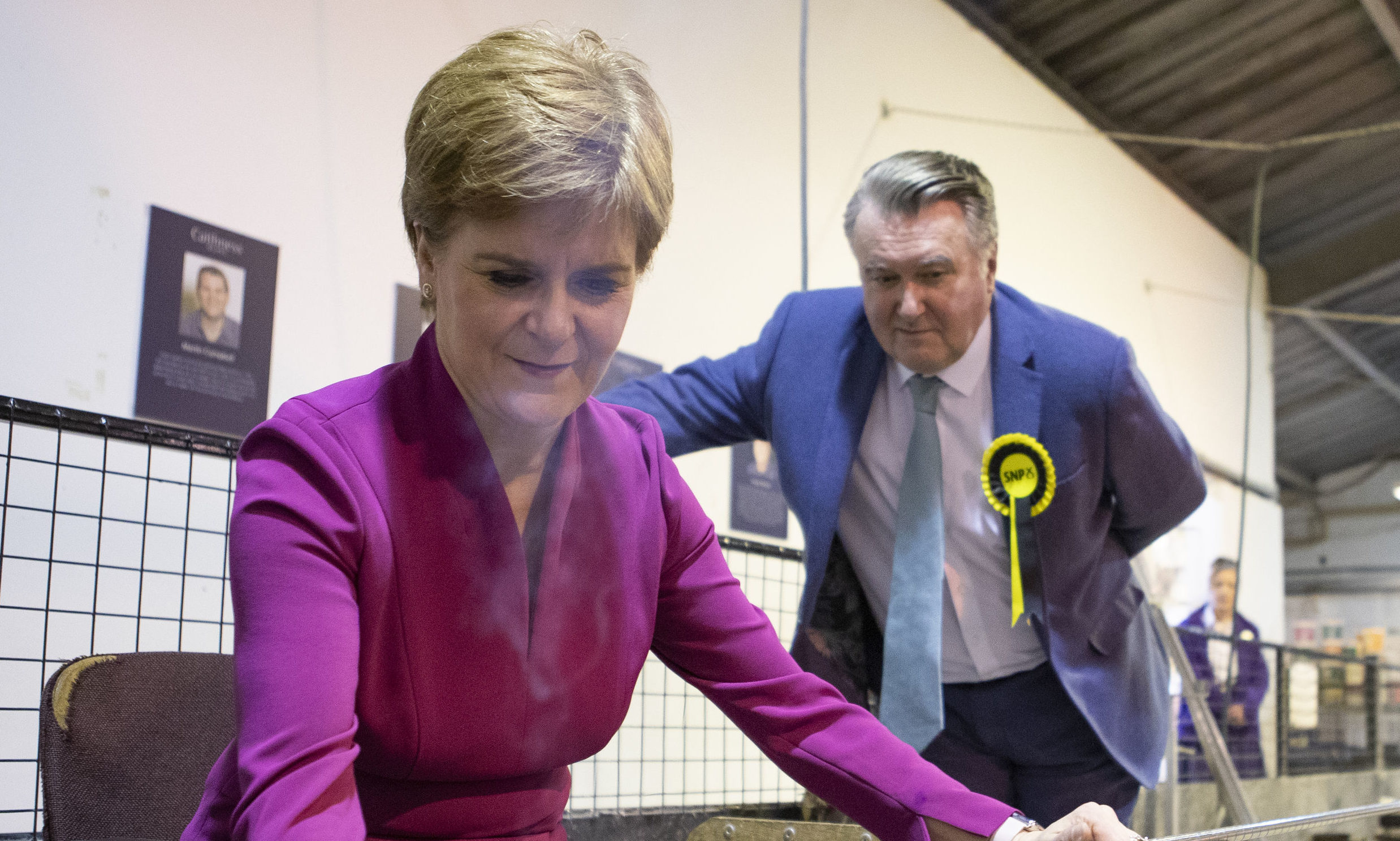 John Nicolson with SNP leader Nicola Sturgeon during the campaign.