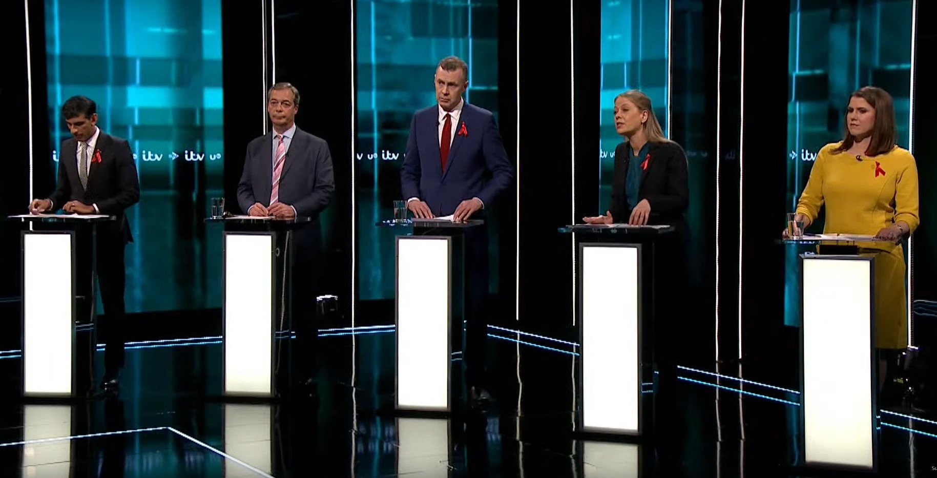 Some of the participants in the ITV leaders debate.