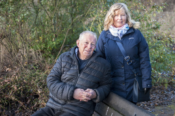 From left, Alec Edward and Fiona Hutton from Colourful Carnoustie,