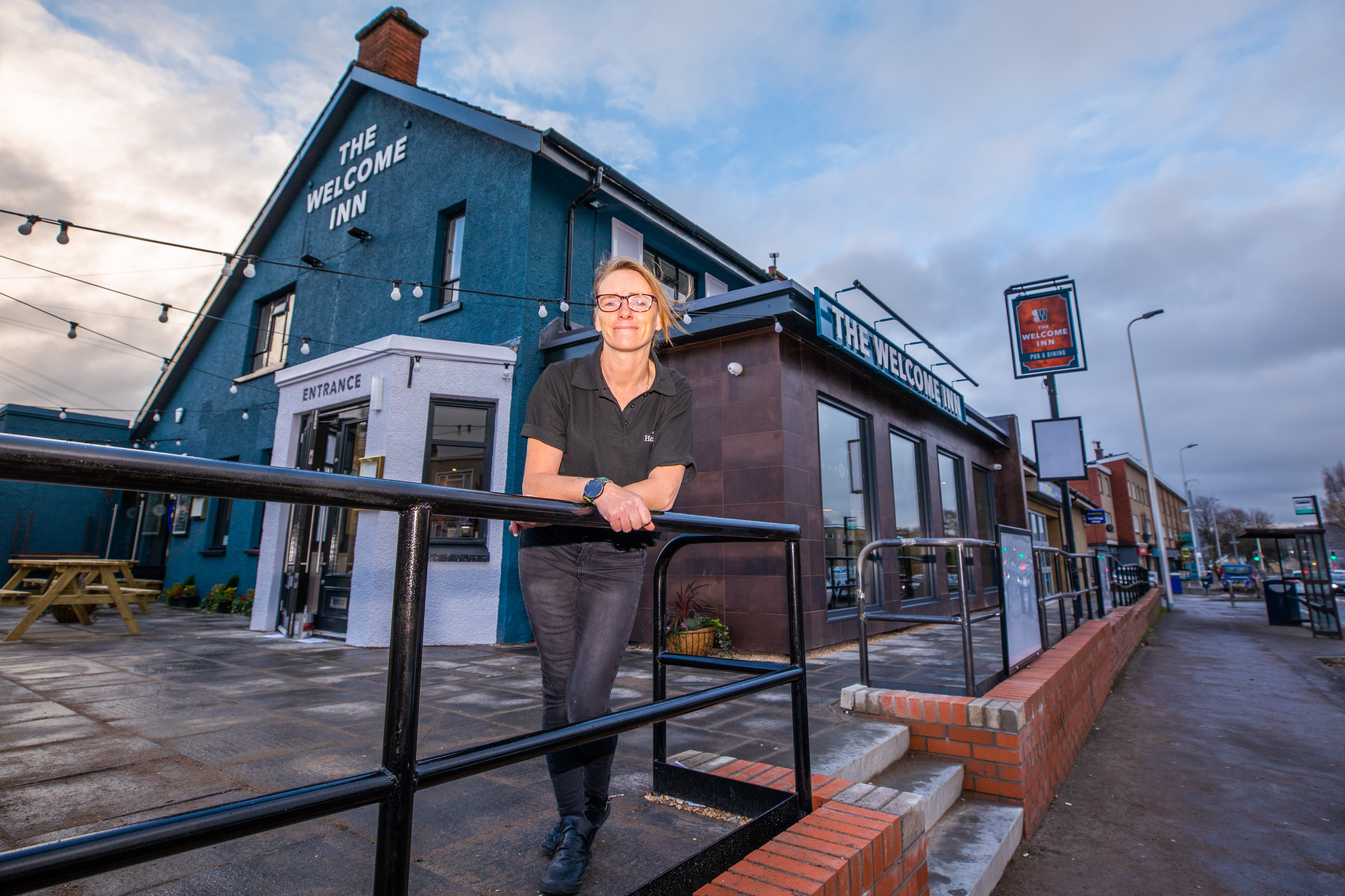 Manager Debbie Little is delighted with the relaunched Welcome Inn, Rannoch Road, Perth