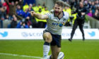 Scotland's Tommy Seymour celebrates another international try.
