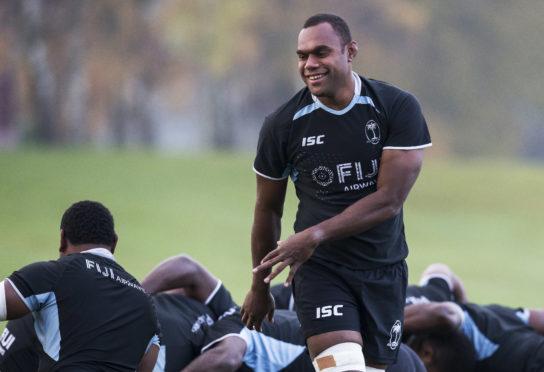 Fiji's Leone Nakarawa was a huge favourite at Scotstoun.