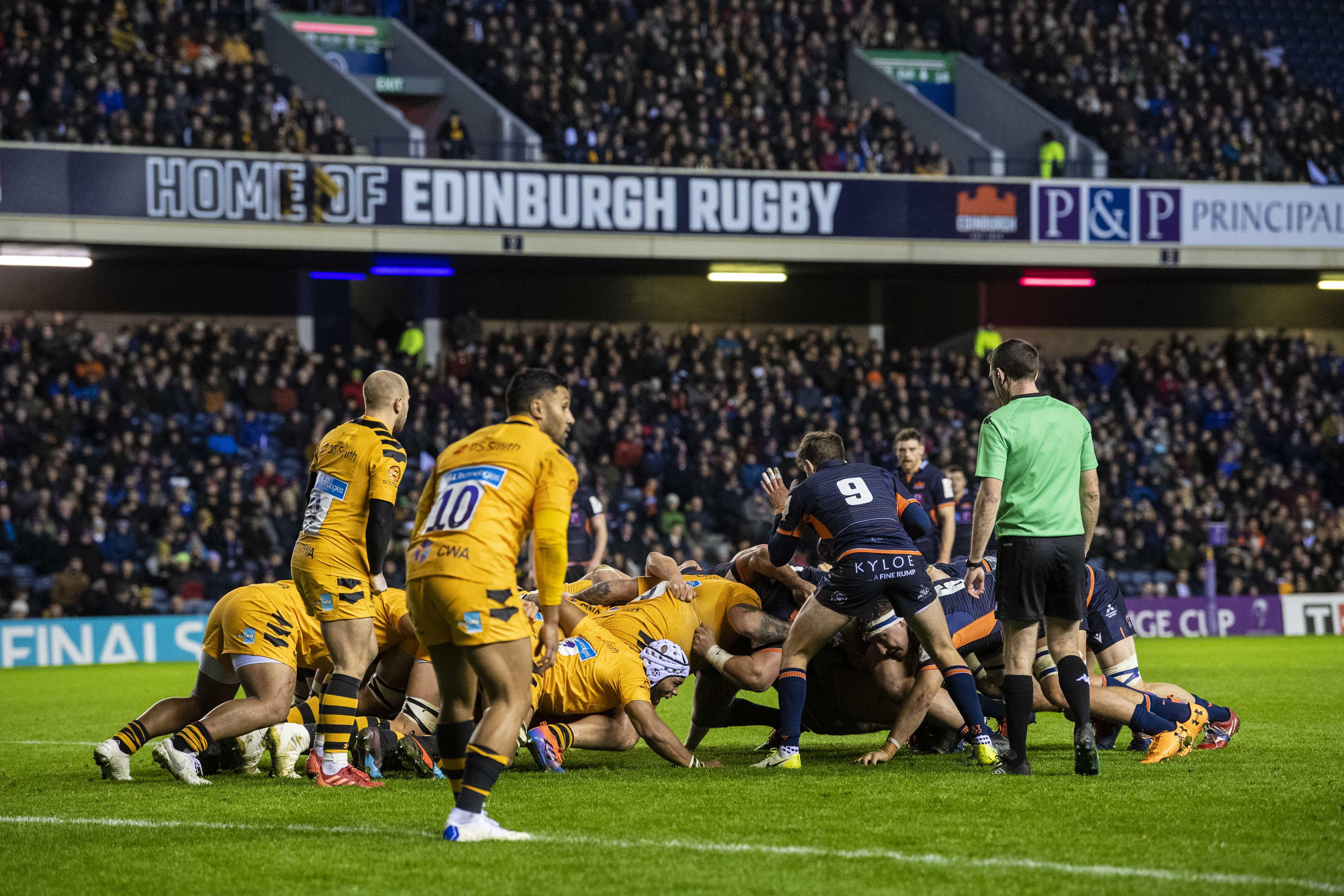 Edinburgh's scrum turns the screw on Wasps at Murrayfield.