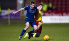 Cammy Kerr in action against Partick.