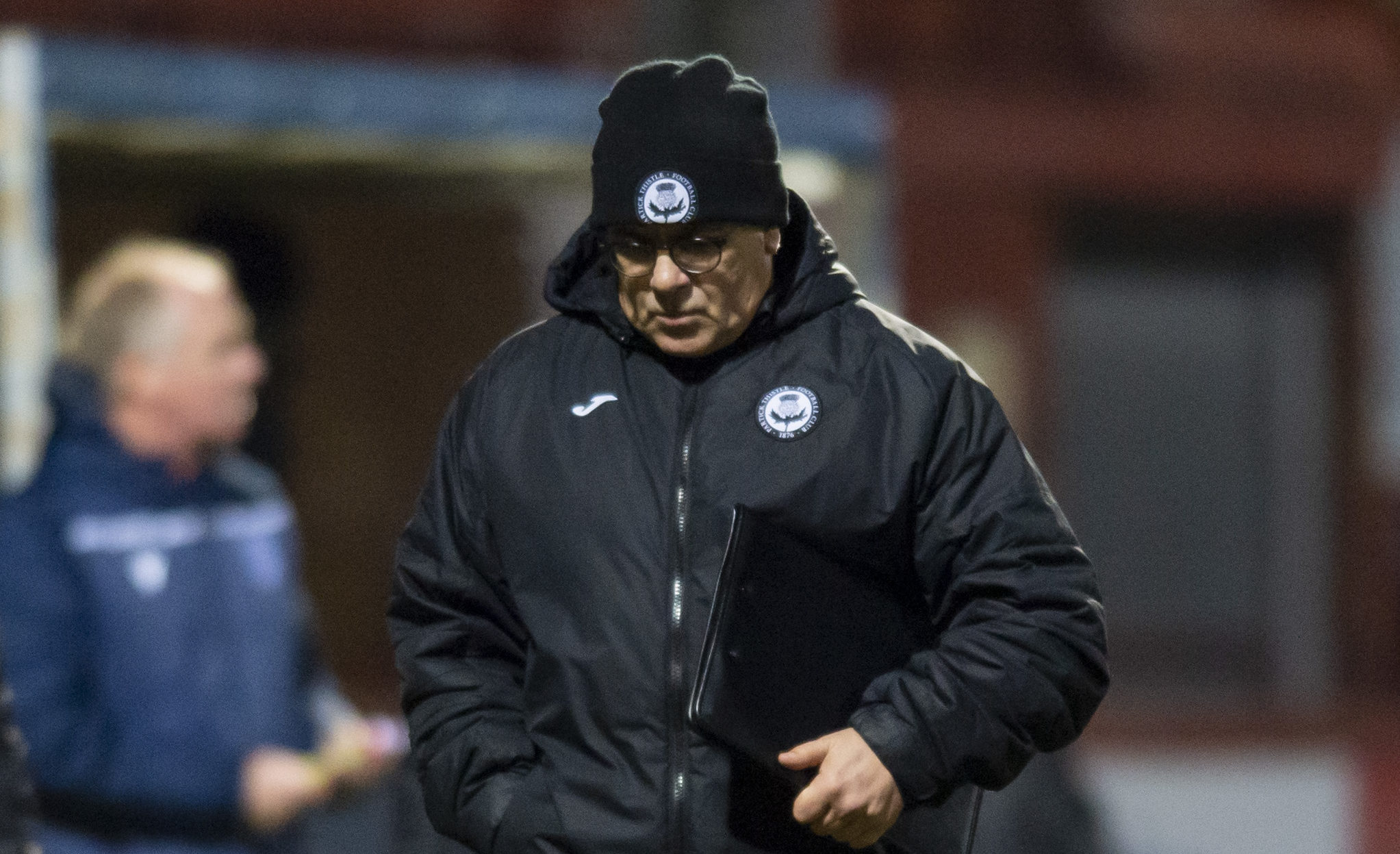 A dejected Ian McCall after losing on Saturday.