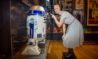 Visit Scotland Regional Leadership Director Caroline Warburton visits Hello, Robot exhibition at  V&A Dundee dressed as 'Princess Leia'