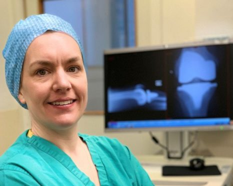 Consultant Orthopaedic Surgeon Sarah Mitchell, carried out the procedure.