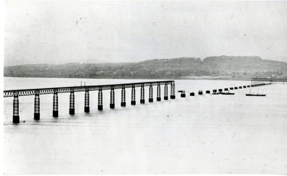 Aftermath of the Tay Bridge Disaster.