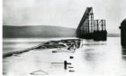 Aftermath of the Tay Bridge Disaster in December 1879.