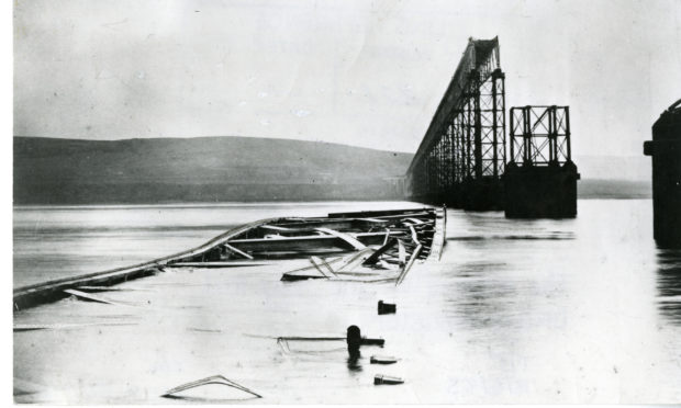 Aftermath of the Tay Bridge Disaster in December 1879