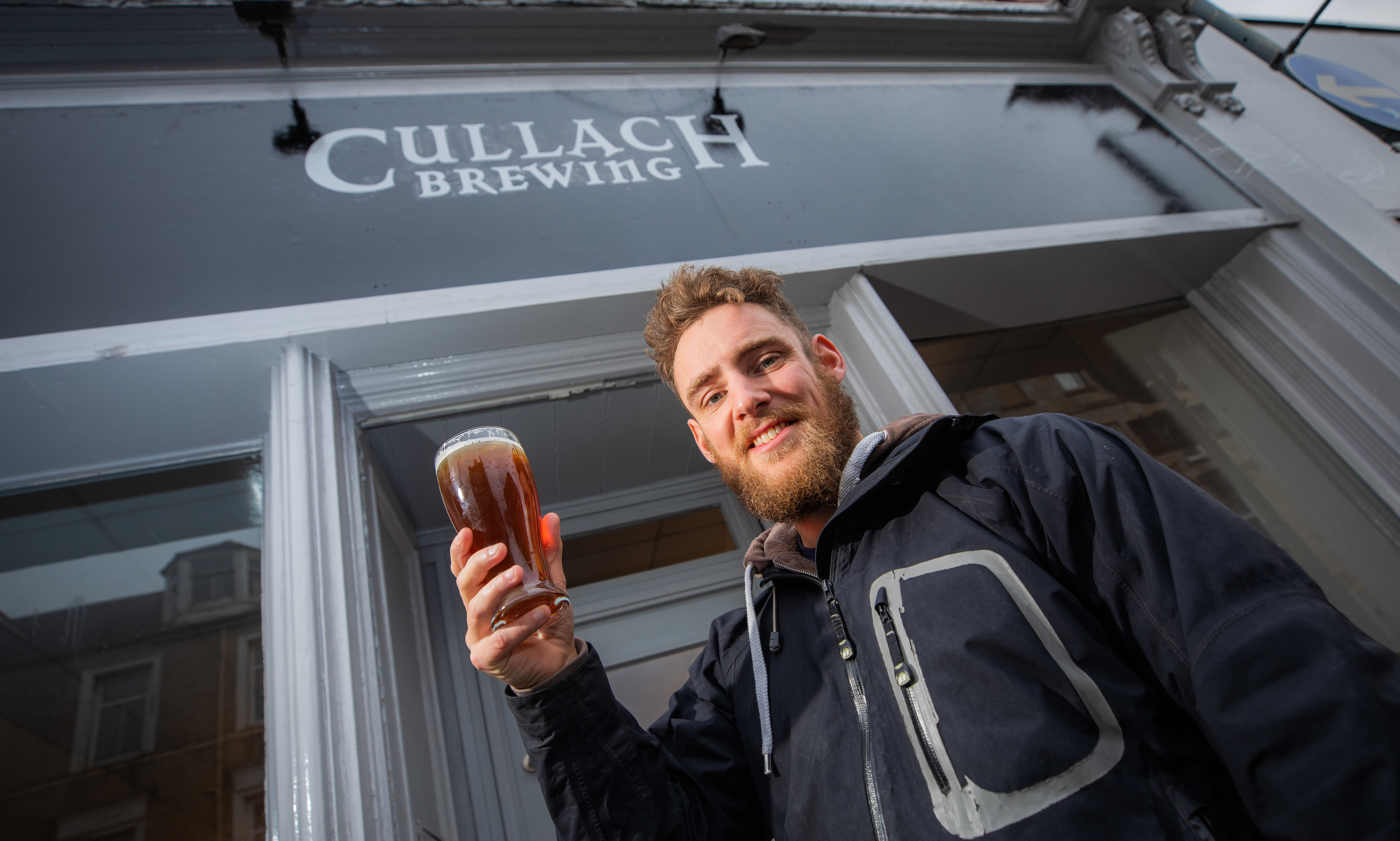 Will Bond outside Cullach Brewing in Perth
