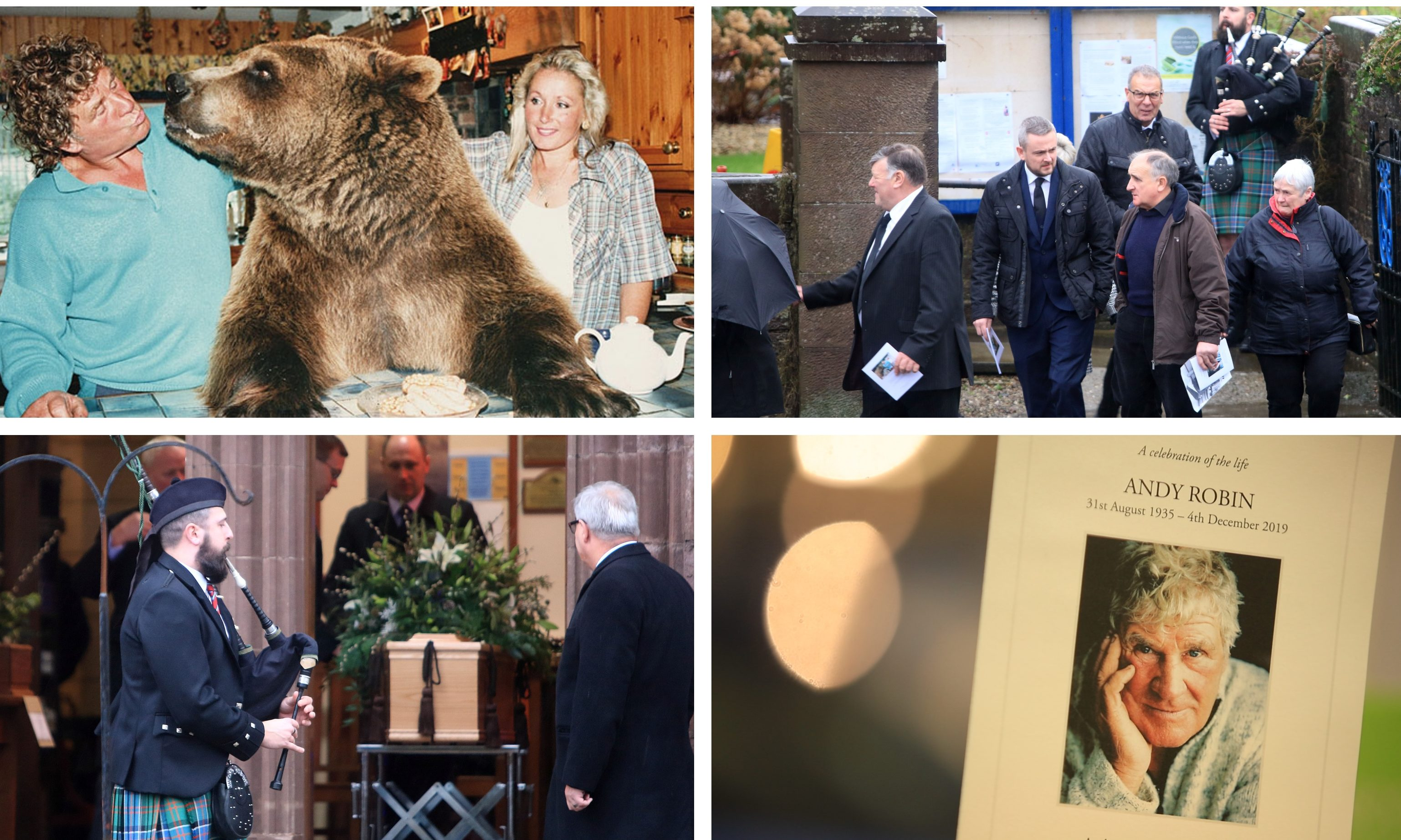 Andy Robin was laid to rest on Monday.