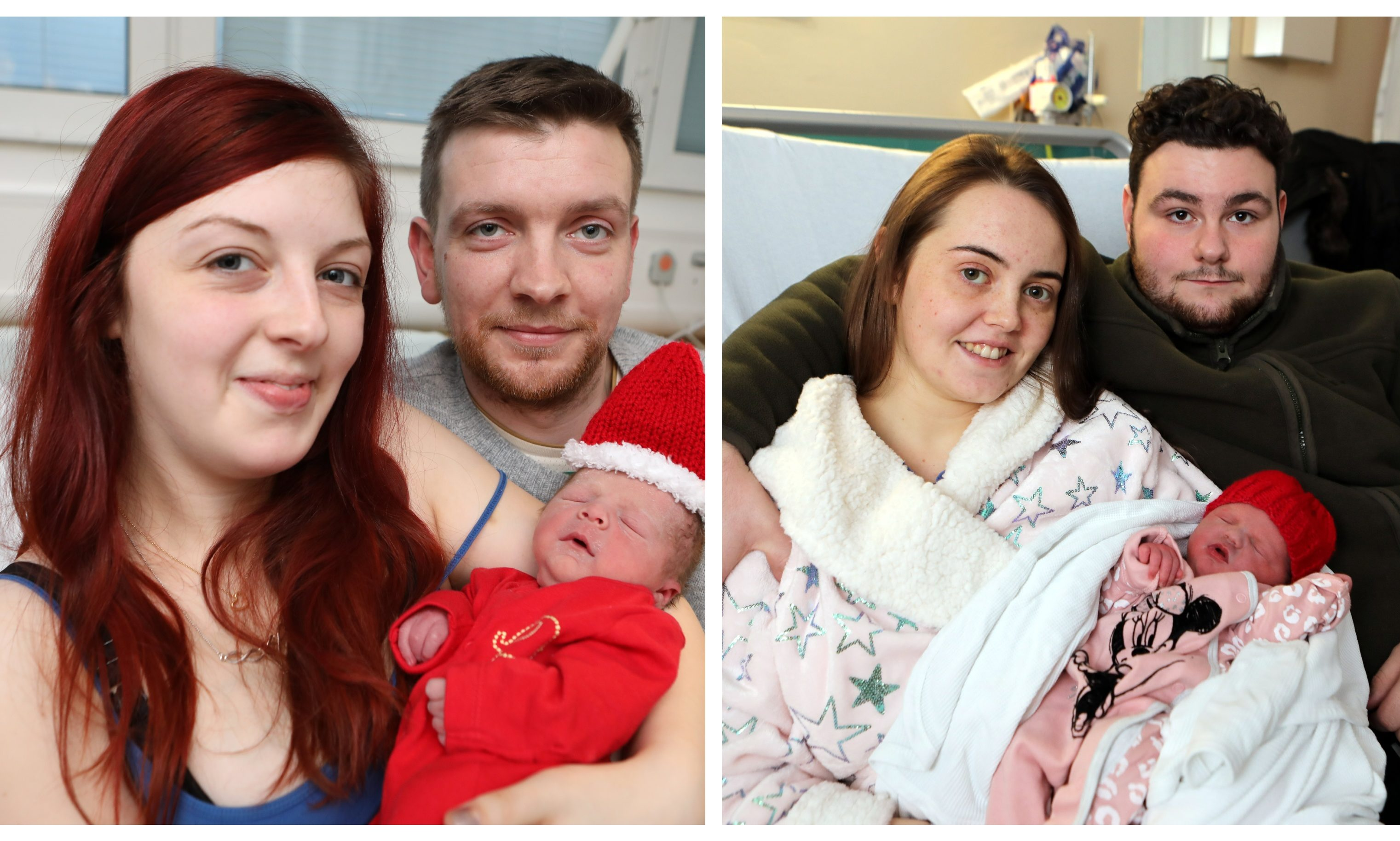 The first babies born at Ninewells Hospital on Christmas Day in 2019.