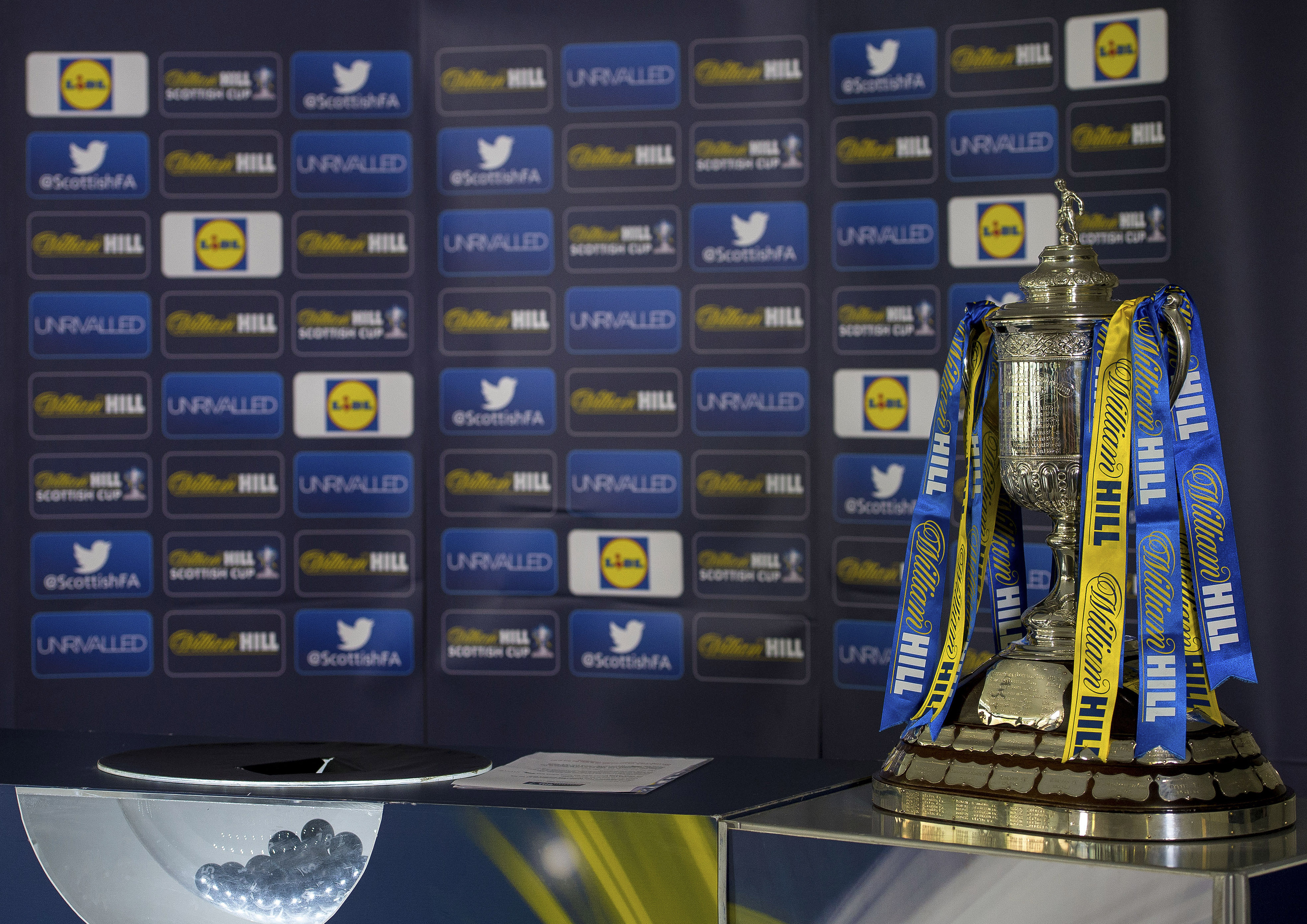 The William Hill Scottish Cup trophy.
