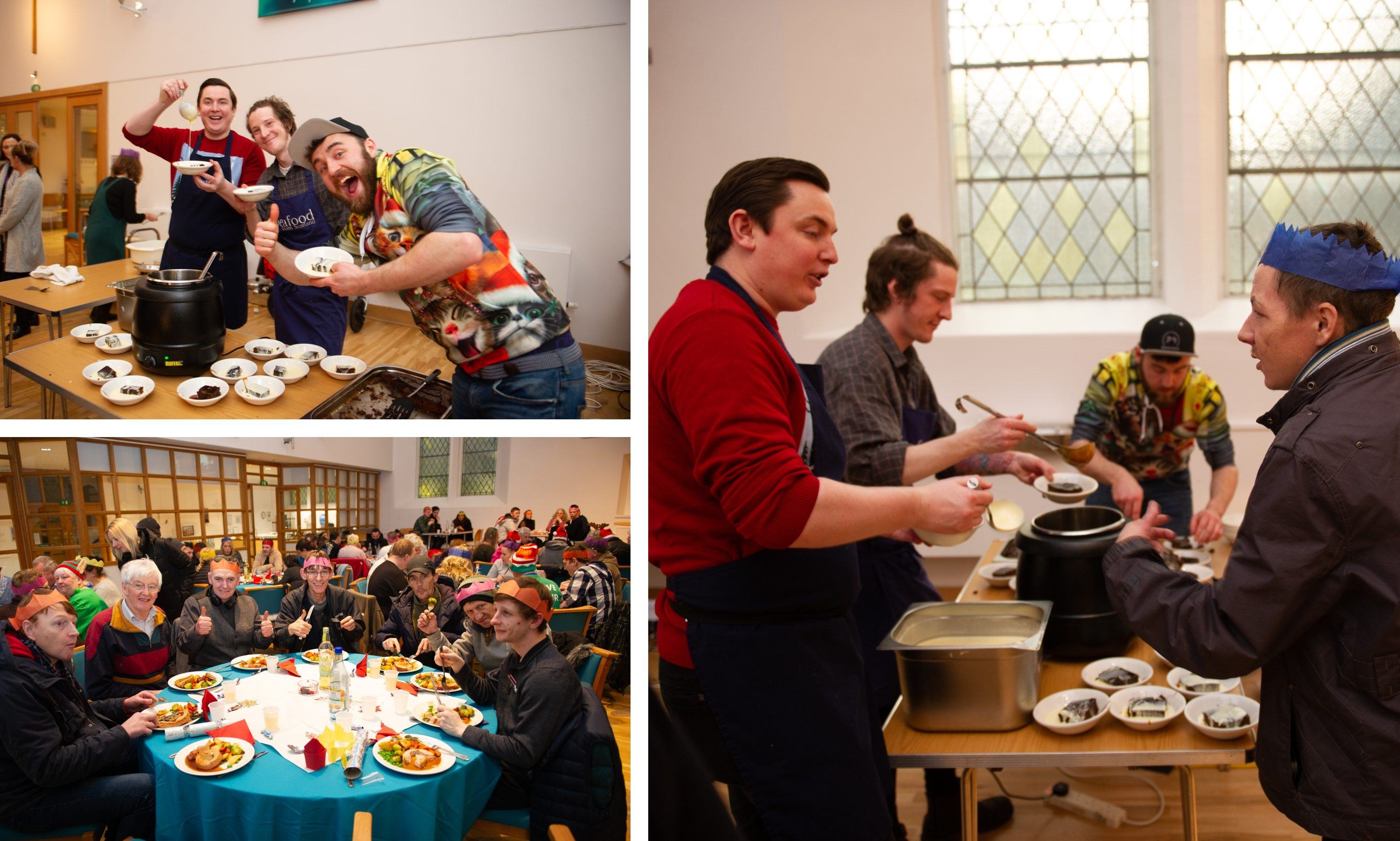 The Christmas dinner at The Steeple Church in Dundee.