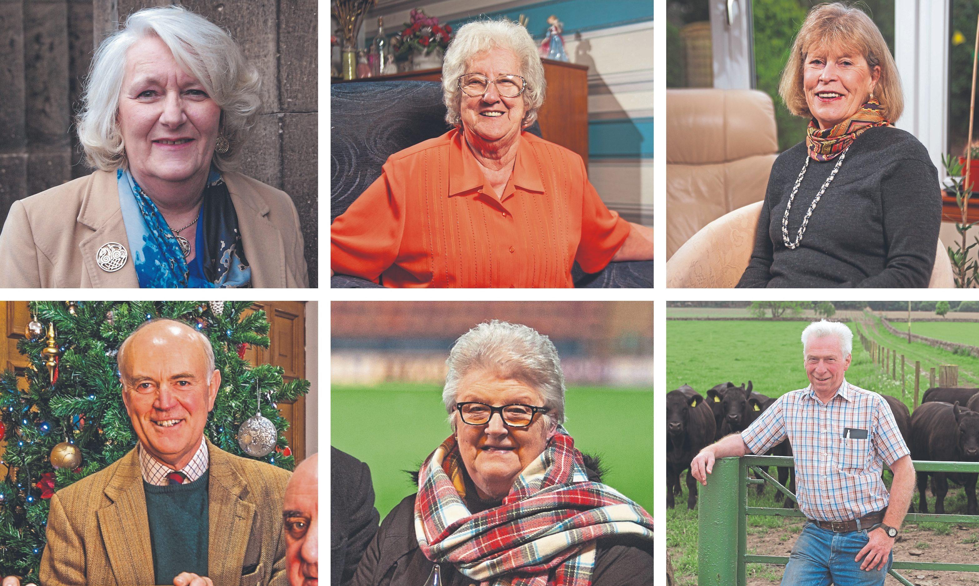 Top (L-R): Irene McGrath, Amy Mathewson and Jo Middlemiss.  Bottom (L-R): Roderick Riddel, Marvyn Stewart and Geordie Soutar.