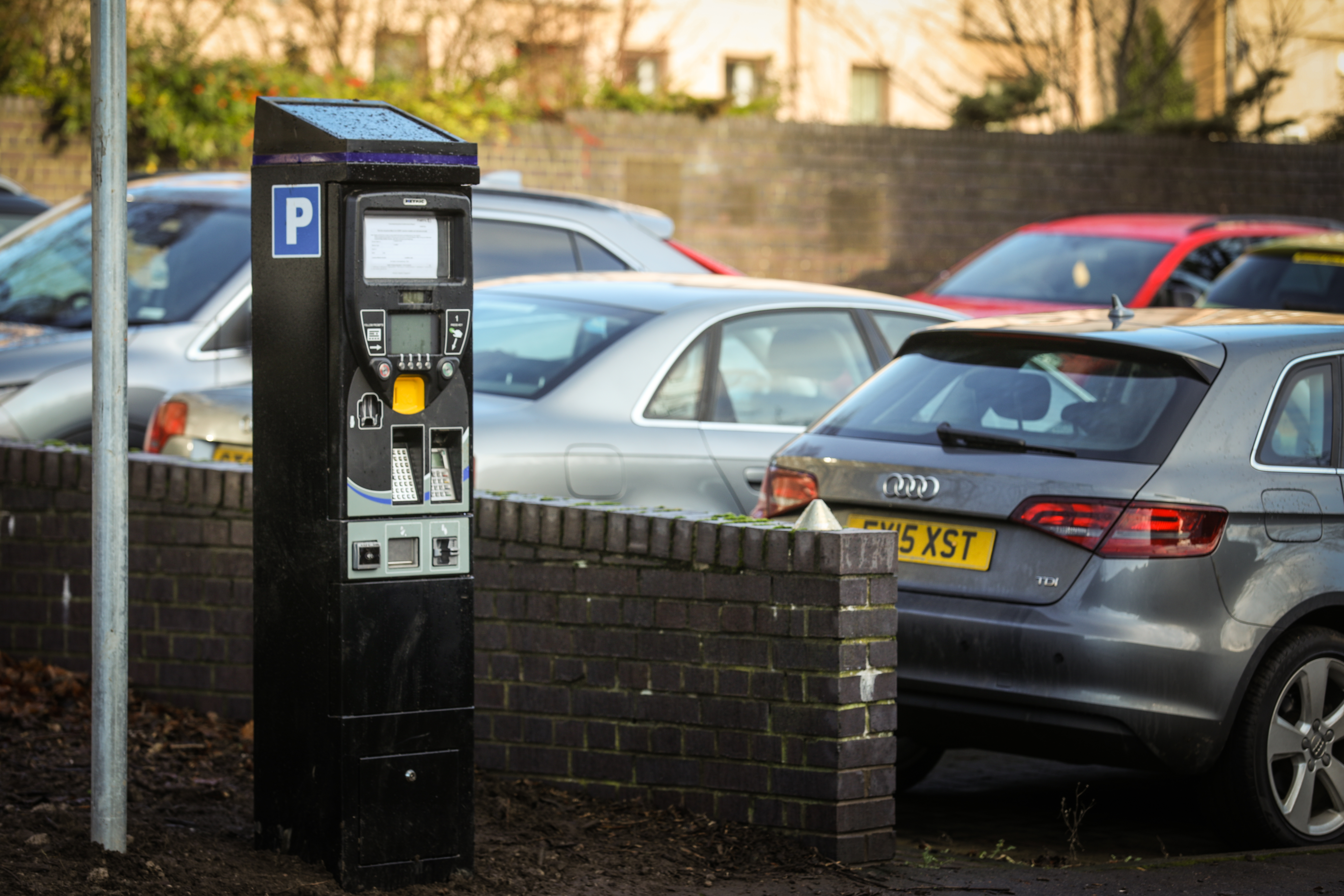 A newly installed parking meter in Pennycook Lane carpark