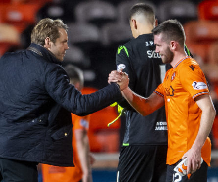 Dundee United manager Robbie Neilson at full-time.