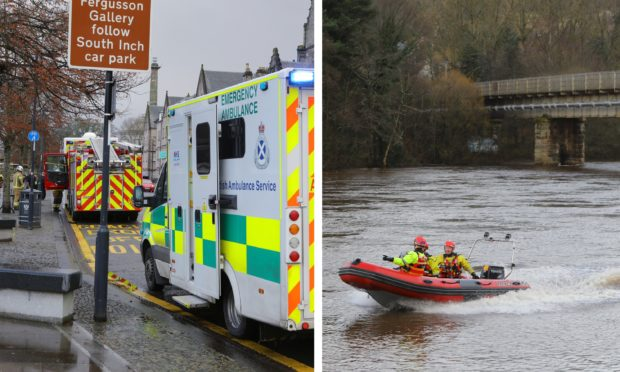 The search for Michael McGannon on Sunday.